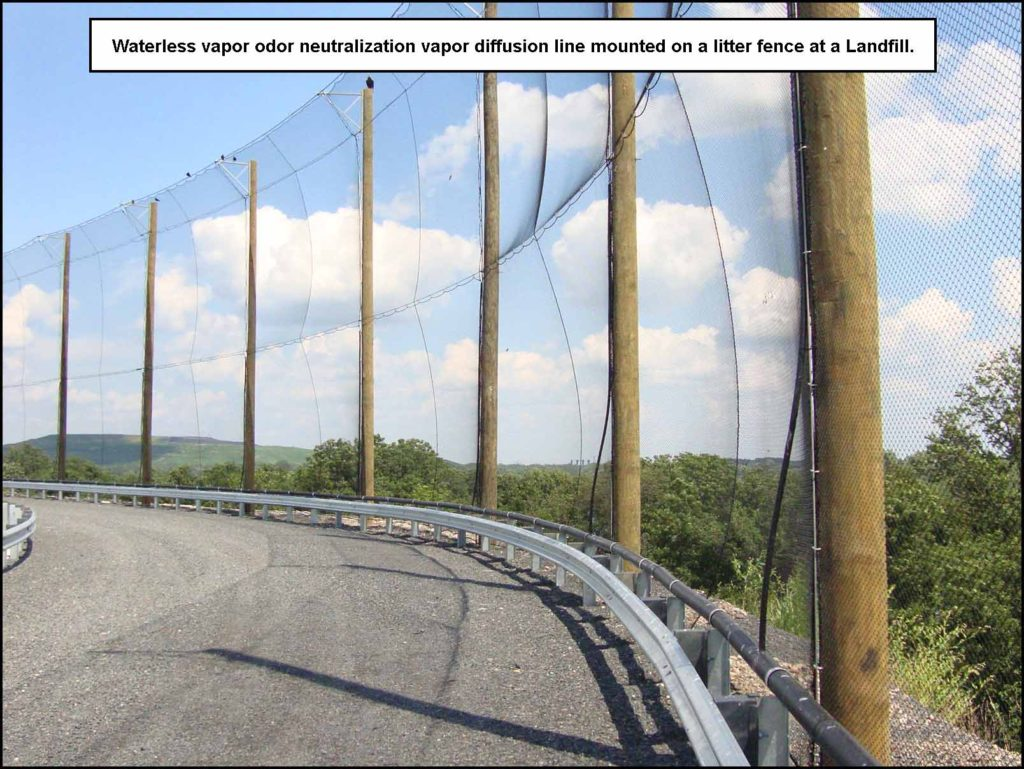 Odor_Control_Waterless_Vapor_Neutralization_on_Litter_Fence_at_Landfill